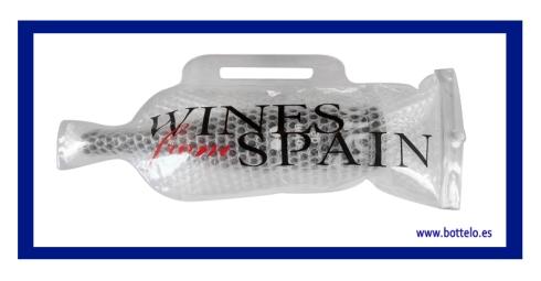 Bolsa de regalo de vino con logo