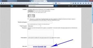 Poner tu web en un grupo de LinkedIn