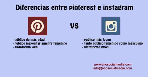 Pincipales diferencias entre Pinterest e Instagram