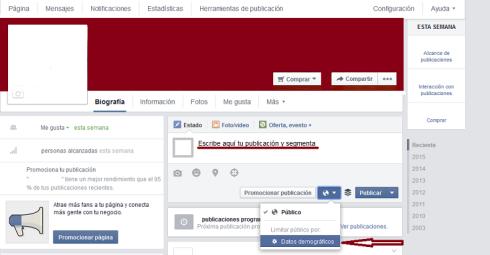 Segmentar por edad en facebook