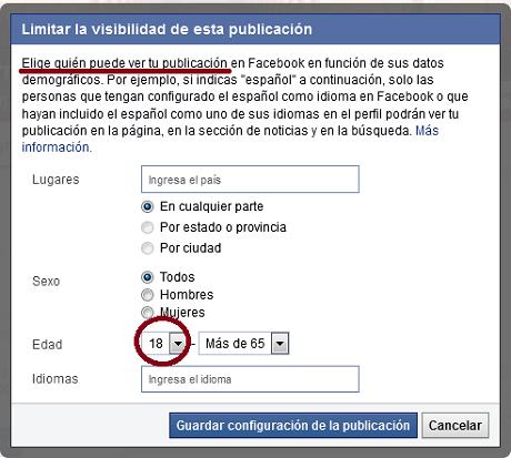 Cómo segmentar publicaciones en facebook por edad