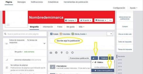 Cómo publicar en facebook en idiomas