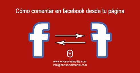 Comentar en facebook como página